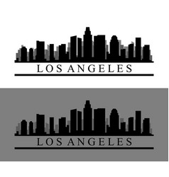 Los angeles icon in on white background vector