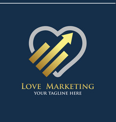 love marketing logo designs vector image