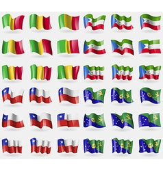 Mali Equatorial Guinea Chile Christmas Island Set vector