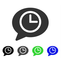 Message time flat icon vector