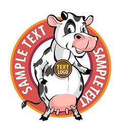 milk brand vector image vector image