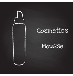 Mousse painted with chalk on blackboard vector