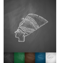 Nefertiti icon vector image