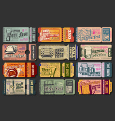 oktoberfest beer festival ticket templates vector image