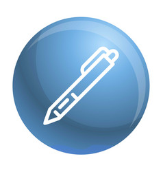 pen icon outline style vector image
