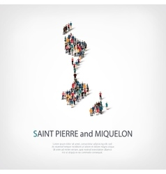 people map country saint pierre vector image