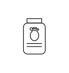 pets food jar linear icon vector image