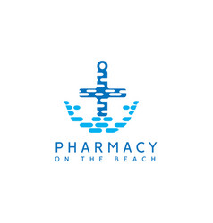 pharmacy logo vector image