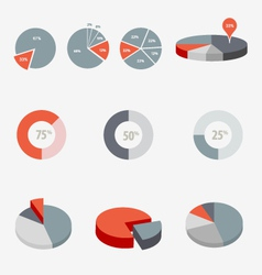 Pie Chart Graphics vector