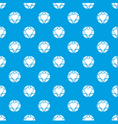 planet heart pattern seamless blue vector image