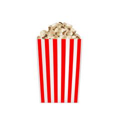 popcorn striped box mockup realistic style vector image