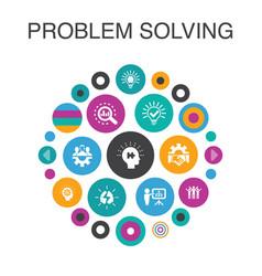 Problem solving infographic circle concept smart vector