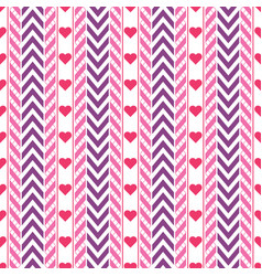 purple and pink chevron and ribbon pattern vector image