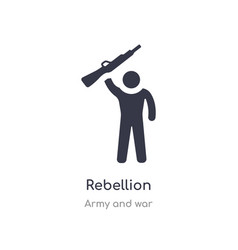 Rebellion icon isolated rebellion icon from army vector