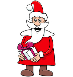 santa claus cartoon character on christmas time vector image