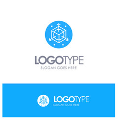 Scale modification design 3d blue logo vector