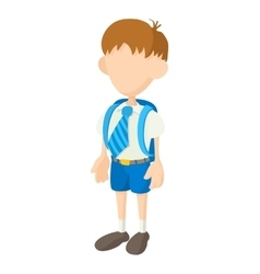 School boy icon cartoon style vector image