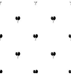 Seamless pattern Black balloons vector image