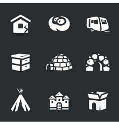 Set of housing vector