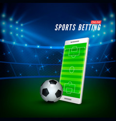 sports betting online web banner template vector image