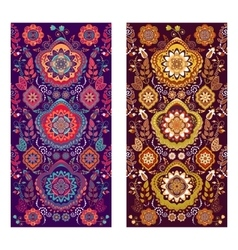 Two Paisley covers or stickers on phone vector image
