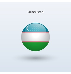 Uzbekistan round flag vector