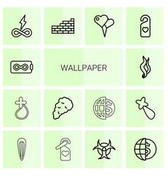 Wallpaper icons vector