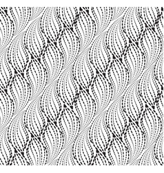 wavy line dot seamless pattern floral texture vector image
