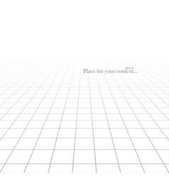 White abstract background with perspective vector
