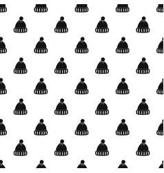 Woolen hat pattern vector