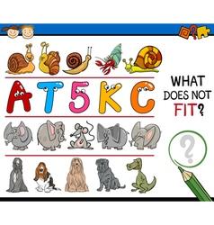 Wrong element task for kids vector