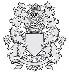 aristocratic emblem No25 vector image