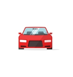 Car icon red color auto isolated vector image vector image