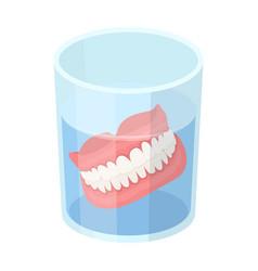 denturesold age single icon in cartoon style vector image