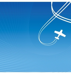 Plane over blue vector image vector image