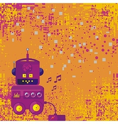 Background With Robot vector image