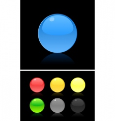 button on the black vector image vector image