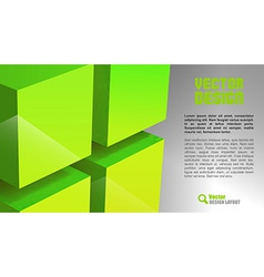 cube layout green vector image vector image