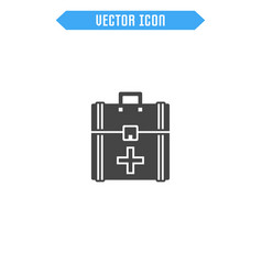 first aid kit icon medicine chest icon vector image vector image
