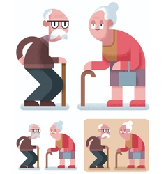 OLD AGE vector image