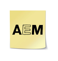 aem on sticky note template vector image