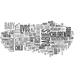 Baby box office text word cloud concept vector