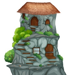 Cave house vector image vector image