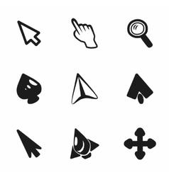cursor icon set vector image