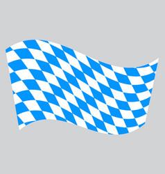 flag of bavaria waving on gray background vector image