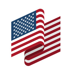 usa flag isolated america ribbon banner state vector image
