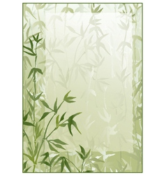Bamboo forest frame vector image