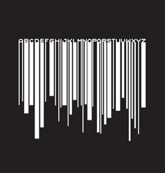 barcode typeface paint flow font vector image