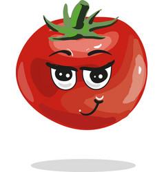 cute tomato cartoon character vector image