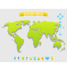 Map Template vector image vector image